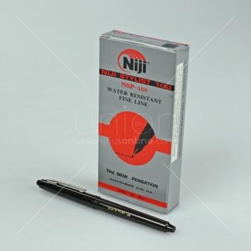 NIJI ปากกาตัดเส้น NSP-100 <1/12> สีดำ