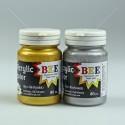 BEE สีอะคริลิค 80 cc. <1/7> สีทอง