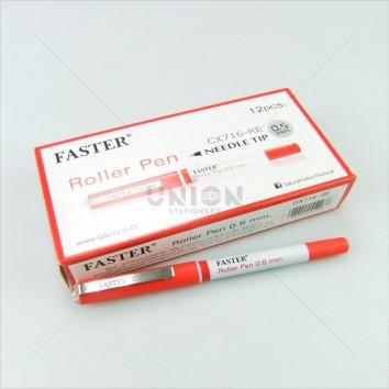 Faster ปากกาโรลเลอร์ ปลอก 0.5 CX-716 RE <1/12> สีแดง