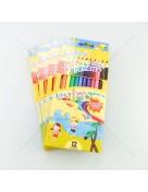 i-Paint ดินสอสีลบได้ ด้ามยาว ชุด 12สี <1/12>