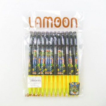 LAMOON ปากกาลูกลื่นกด 0.38 LM <1/12> หมึกน้ำเงิน