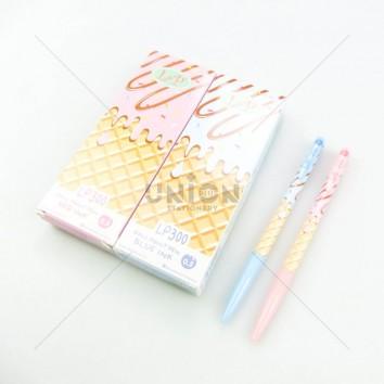 L&P ปากกาลูกลื่น กด 0.5 LP300 <1/12> สีน้ำเงิน