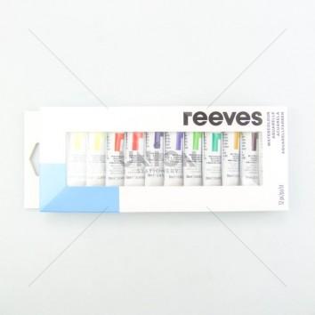 REEVES สีน้ำ ชุด 12 สี 10 ml. <1/1>