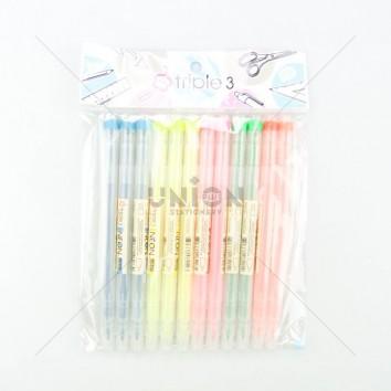 TRIPLE3 ปากกาไฮไลท์ H400 <1/12> คละสี