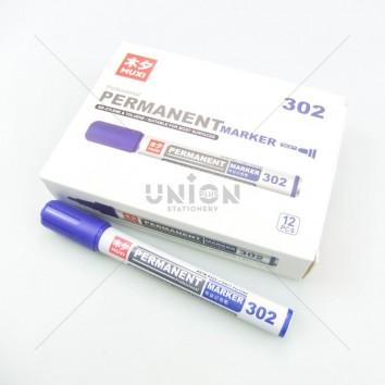 MUXI ปากกาเคมี หัวเดียว 302 <1/12> สีน้ำเงิน