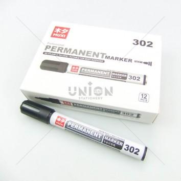 MUXI ปากกาเคมี หัวเดียว 302 <1/12> สีดำ