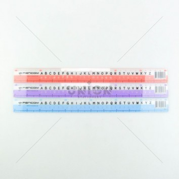 Pencom ไม้บรรทัดพลาสติก หนา 30cm ABC <1/24>