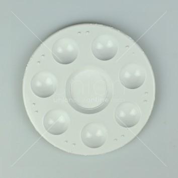 จานสีกลมเล็ก สีขาว แพ็ค 2 โหล <1/24>